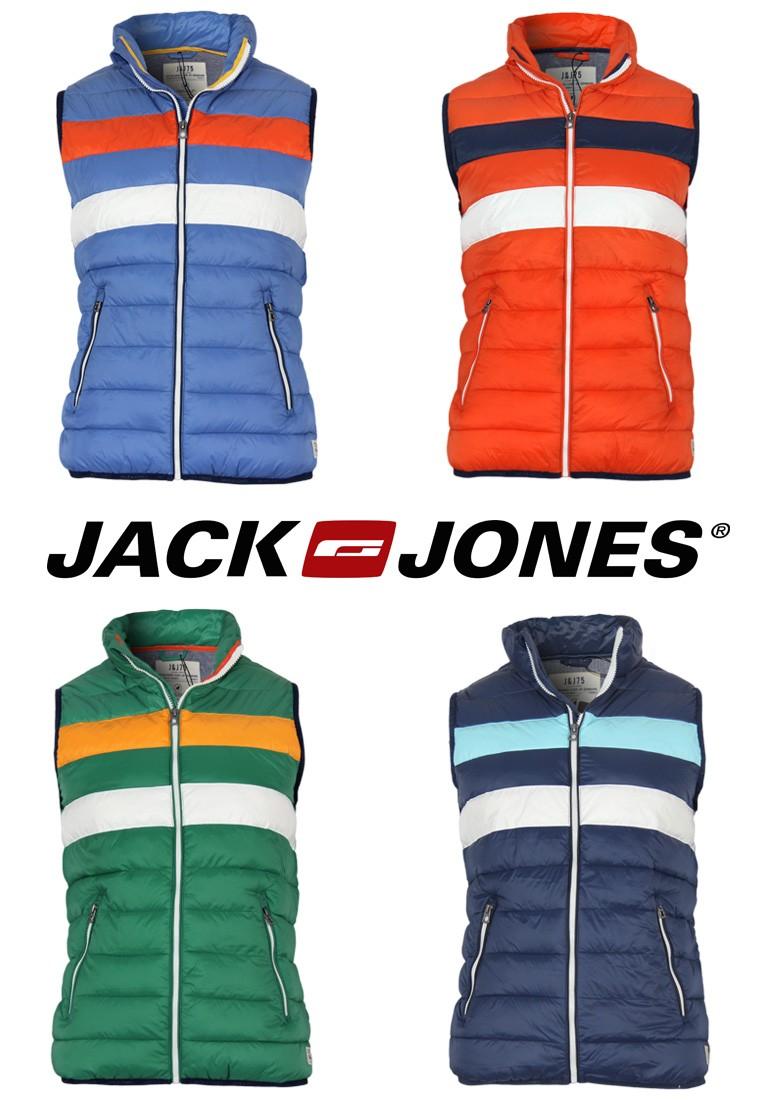 jack jones weste noise stripe gr s m l xl xxl 4 farben neu. Black Bedroom Furniture Sets. Home Design Ideas