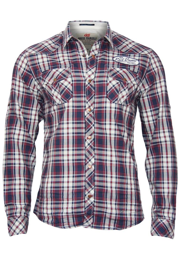 qs by s oliver hemd extra slim kariert 2 farben herren hemden. Black Bedroom Furniture Sets. Home Design Ideas
