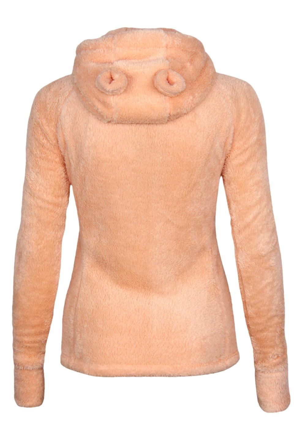 fresh made teddy fleece jacke mit hrchen damen sweatshirts. Black Bedroom Furniture Sets. Home Design Ideas